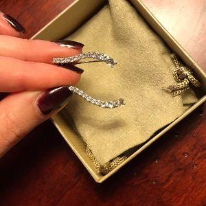 Jewelry - Sterling silver CZ climber earrings